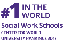 Fact Fact: #1 In the World, Social Work Schools, (Center for World University Rankings 2017)