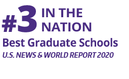 Fact Fact: #3 In the Nation, Best Graduate Schools, (U.S. news & World Report 2020)